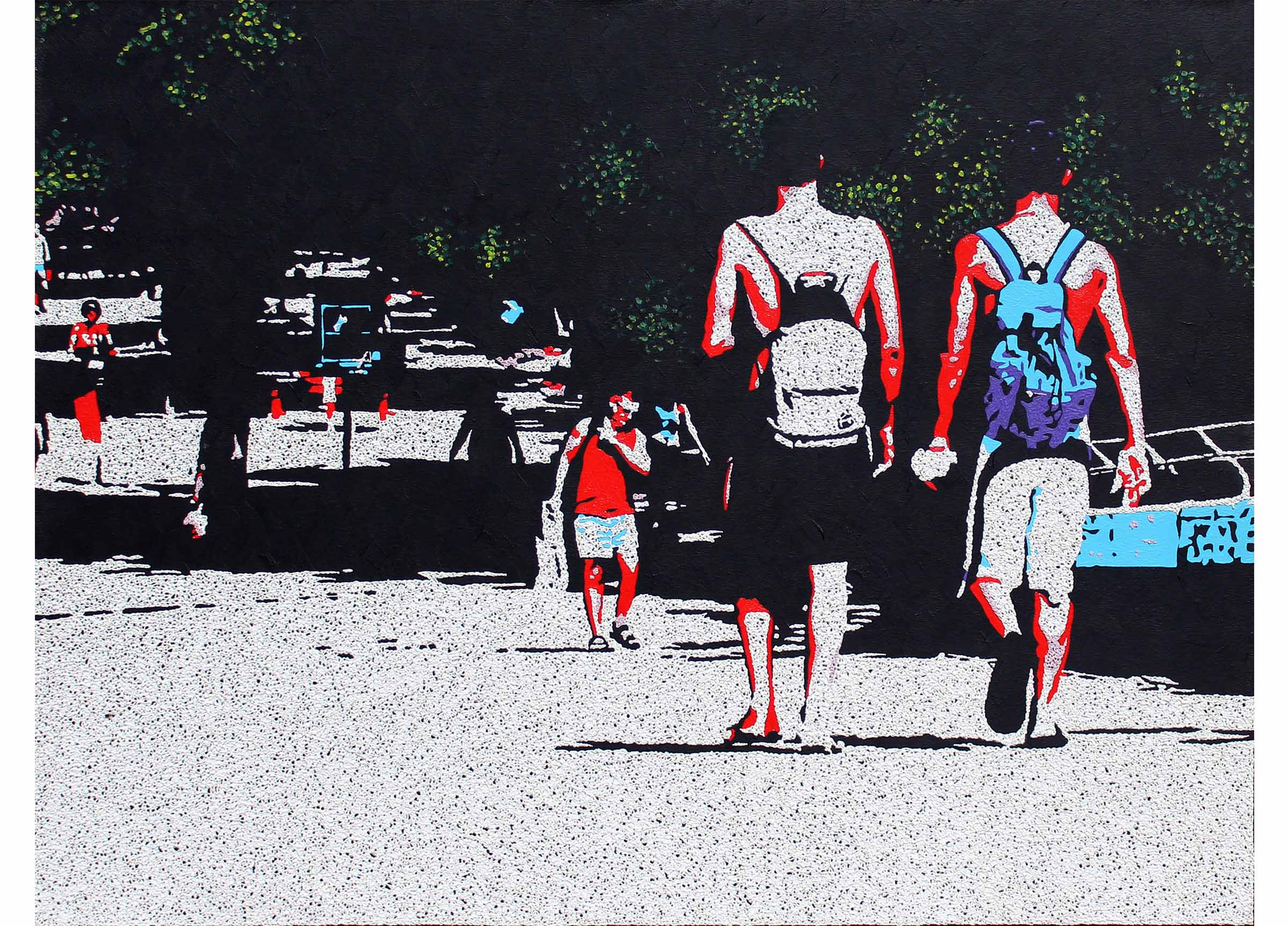 Two Boys Walking,